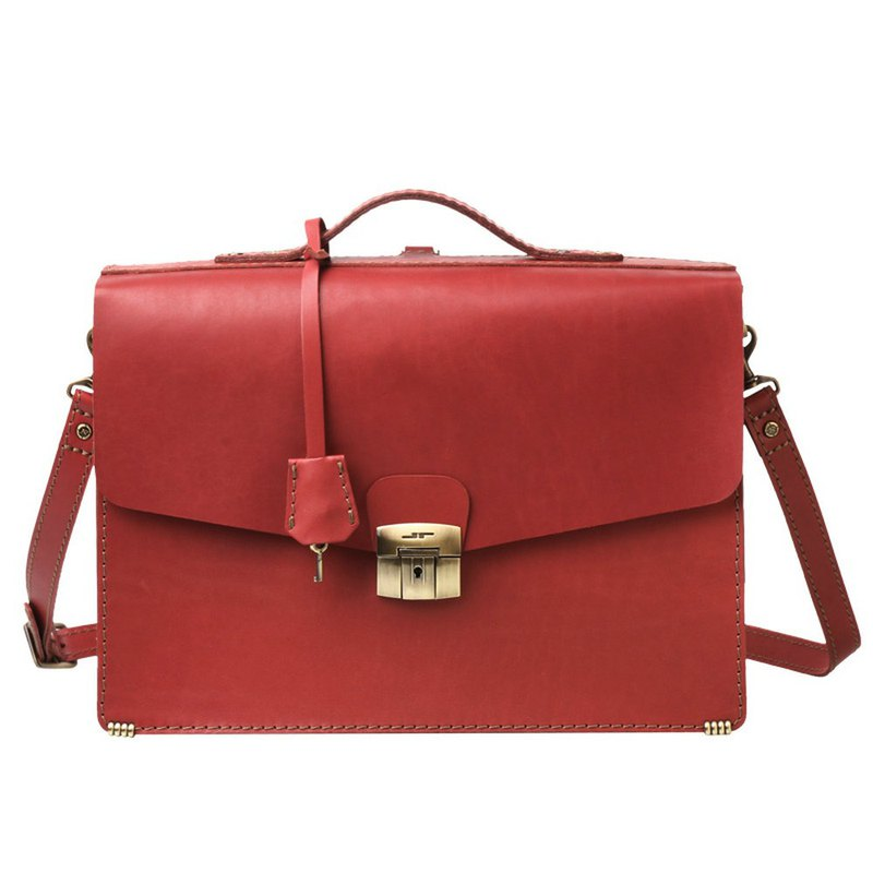 JIMMY RACING Elegant Stewardess Handbag Shoulder Shoulder 3way Briefcase - Crimson 04166071