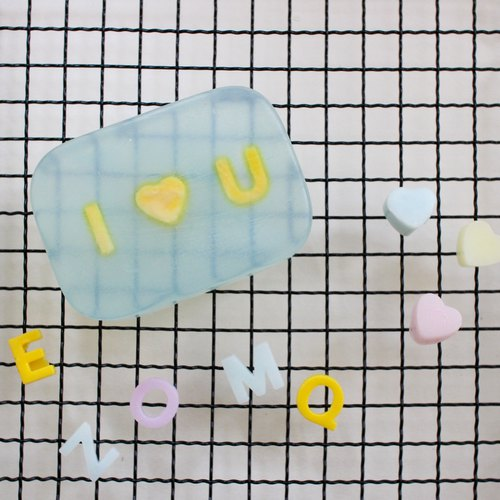 Valentine's Day Transparent Lettering Style Handmade Soap Wedding Small Things Couple