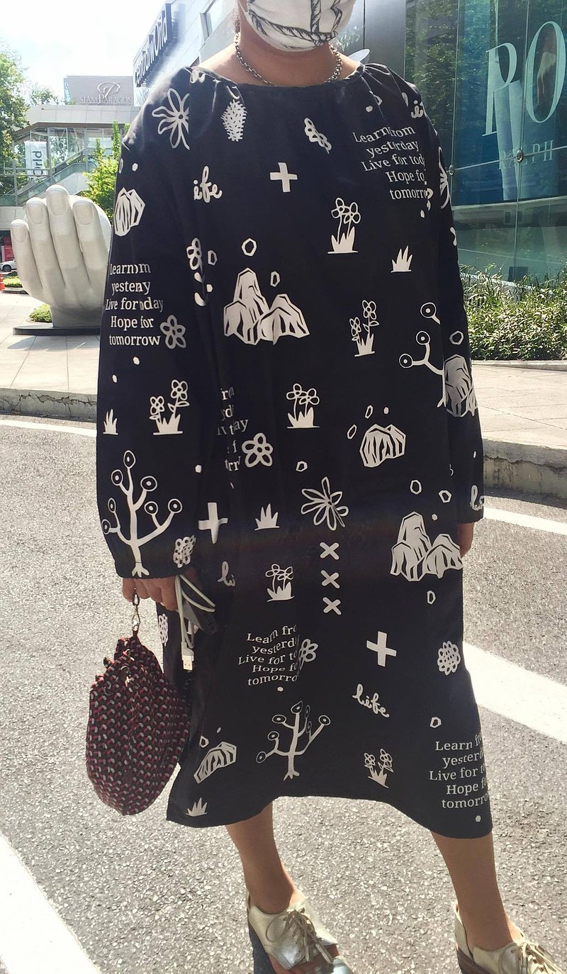黑色長裙與自然模式