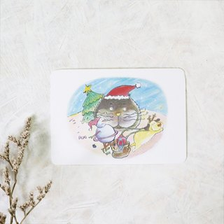 Jeep Planet Christmas Party Christmas Card / Postcard with Envelope