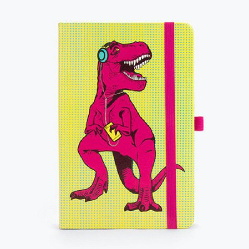 British Mustard blank notebook - Tyrannosaurus also You
