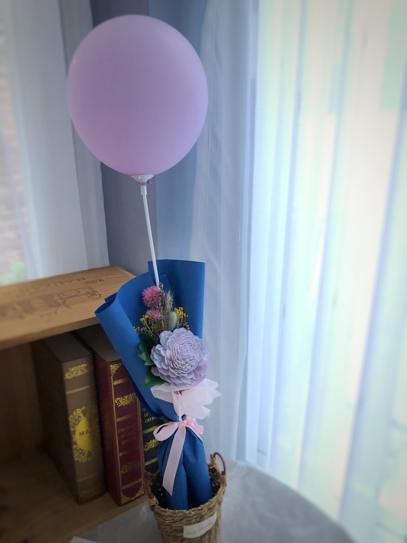 Graduation highest [children's heart] flower balloon sweetheart dry bouquet