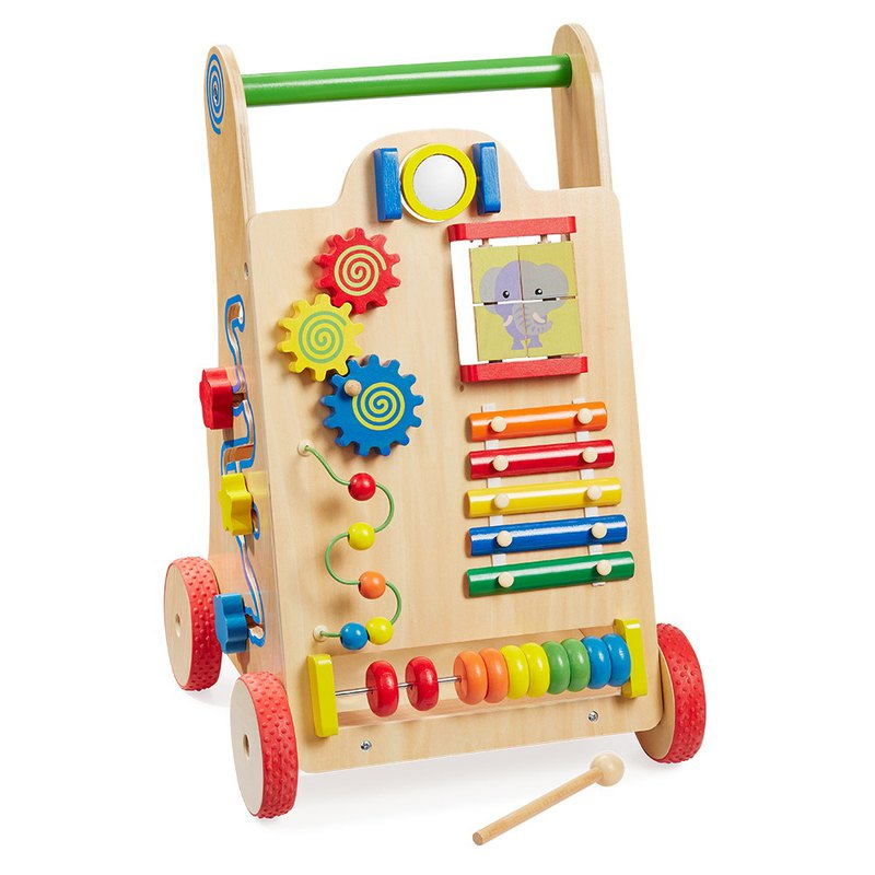 I am the young president. Wooden children's multi-functional walker