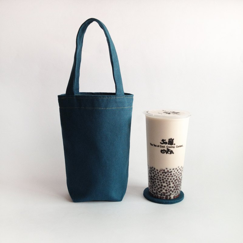 Beverage bag with coasters / BLUE blue