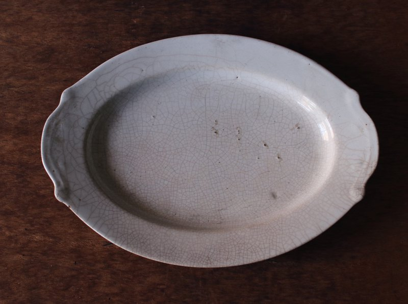 Early oval ice crack plate
