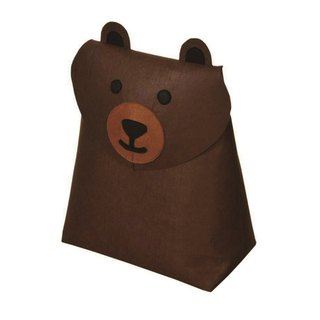 KOMPIS | Nordic Wind Cute Animal Shaping Bag - Brown Bear / Toy Diaper Cloth Storage