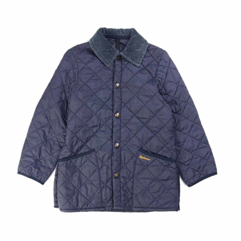 Tsubasa.Y ancient house Barbour011 dark blue quilted jacket, lightweight cotton jacket to keep warm
