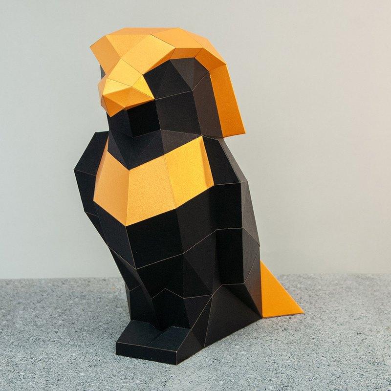 問創設計 DIY手作 紙模型 禮物  擺飾 埃及神 - 小鷹神荷魯斯