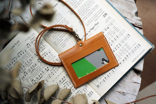 Yellow-brown horizontal good margin certificate set ID card holder ID card holder clip
