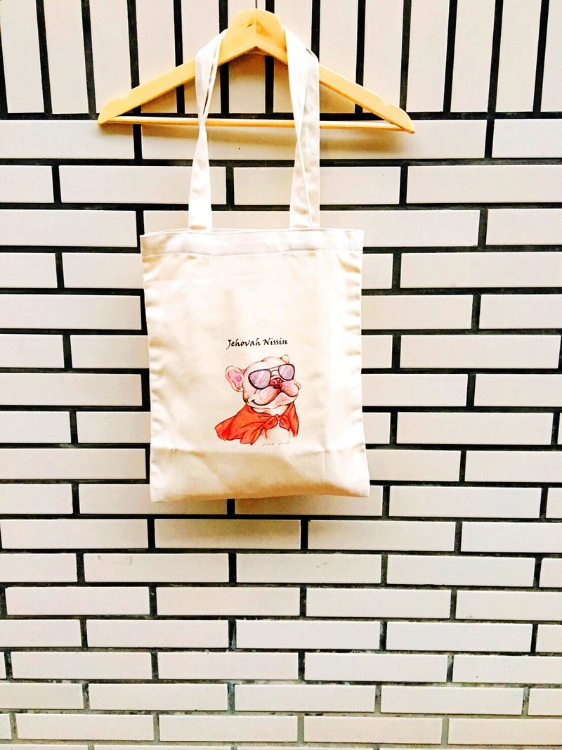 France fighting hero canvas bag