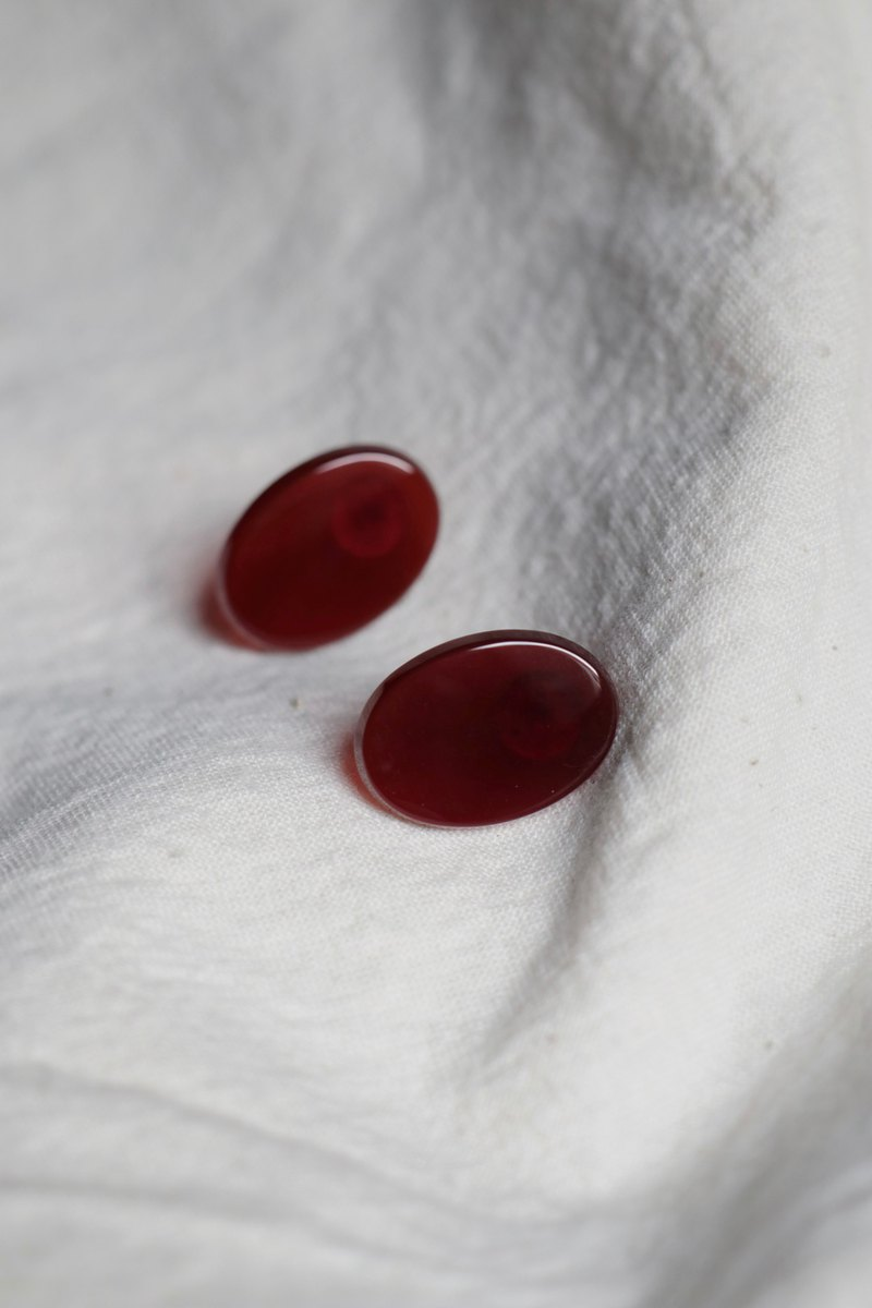 Blood agate earrings can be changed to ear clips