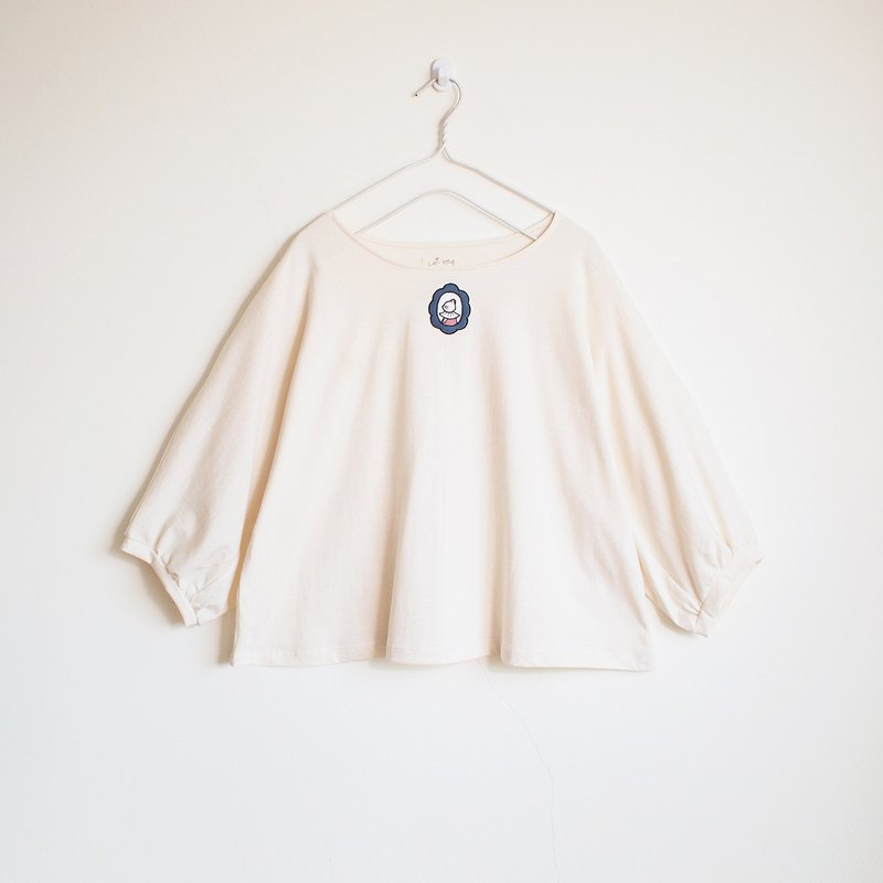 marquis cat blouse : natural