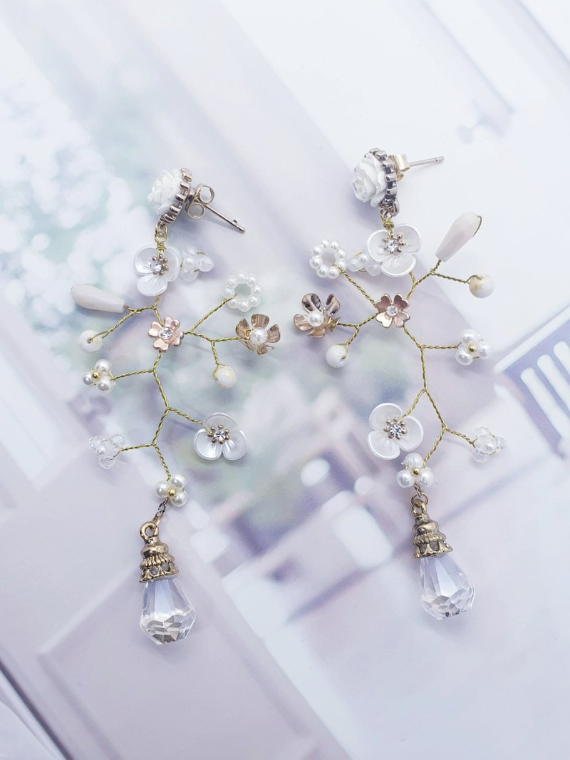 Handmade wire tree boho earrings
