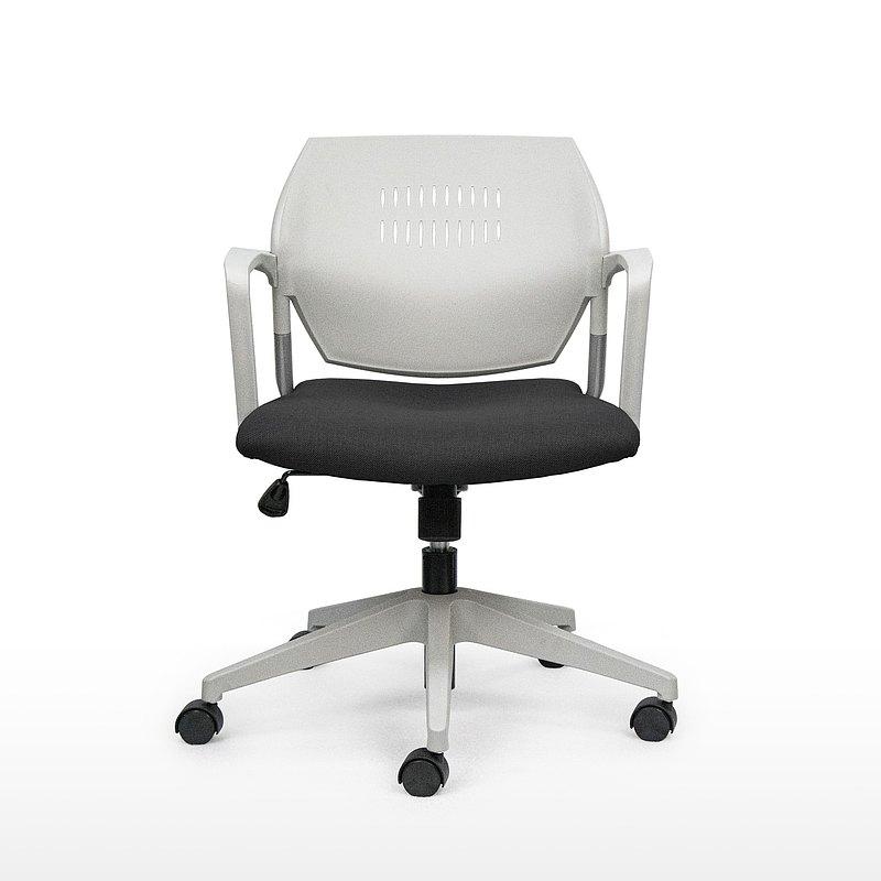 IMPRESSA | 小資扶手辦公椅 - 灰 x 黑座