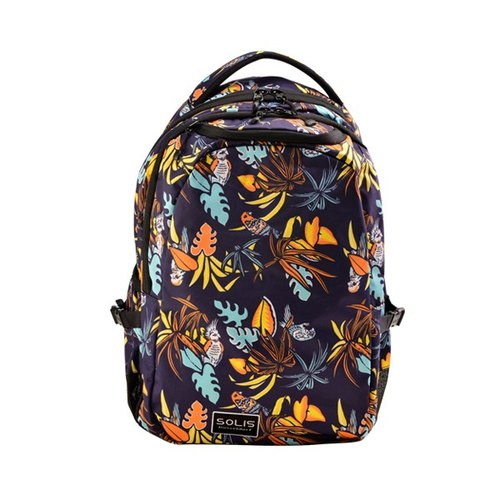 SOLIS [Tropical Bird of Paradise Series] Ultra + Small Basic Backpack Backpack (Tropical Orange)