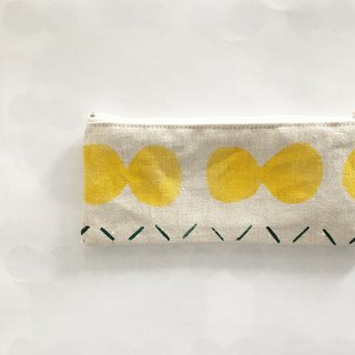 moshimoshi | Burlap pencil case - Yellow cell division