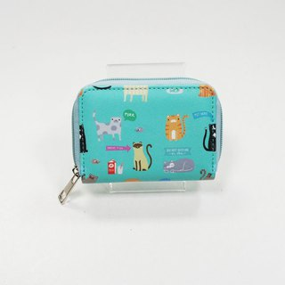 Cat Paradise Mi Cross Rectangle Zip Coin Purse / Travel Card Gift - Love Shirley
