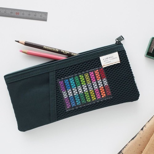 Livework casual style double pencil case - Dai green, LWK51677