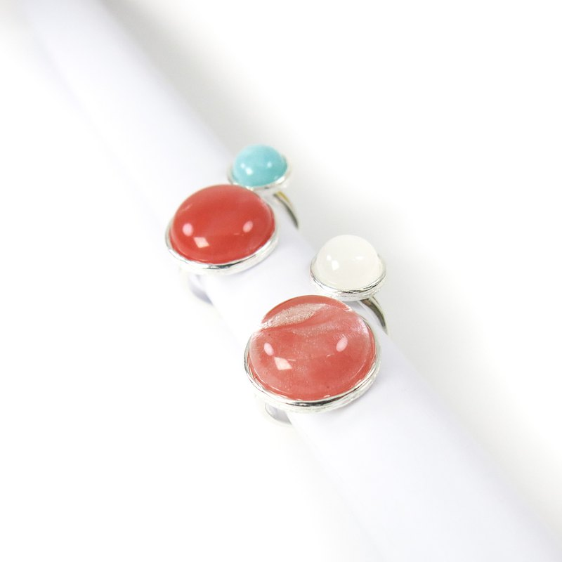 READ Dazzling Revolution | Red Ghost White Jade 925 Sterling Silver Ring