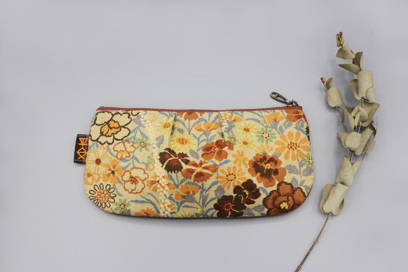 Ping An Universal Bag-Orange Garden Double-sided Two-tone Pencil Case, Cosmetic Bag, Storage Bag