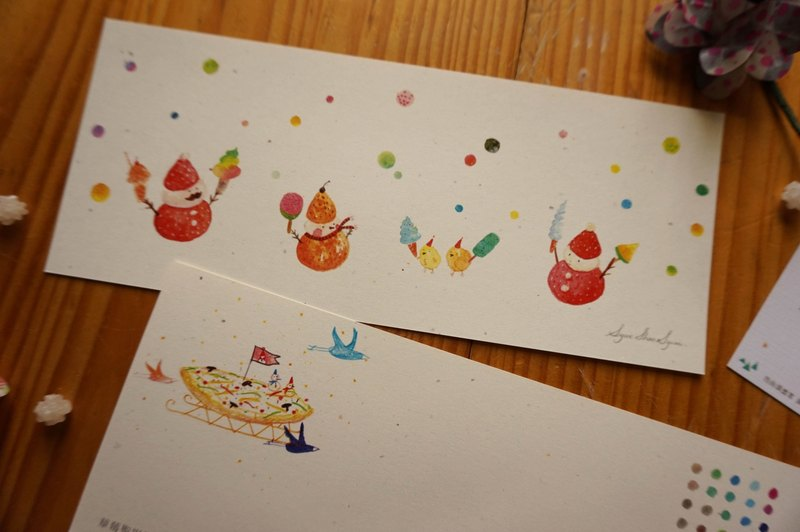 Xue delicate children :: :: Christmas dessert strawberry long Christmas postcard / card