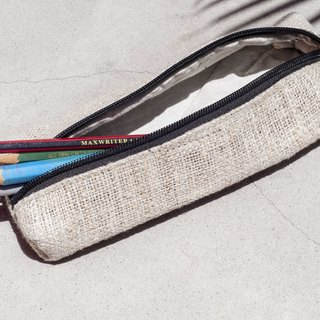 Feel canvas pen bag storage bag cutlery bag ethnic wind storage bag cotton and linen woven pen bag - original flavor