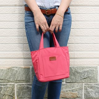 LAPELI │ Nylon Handbag / Mother Pack Peach Pink