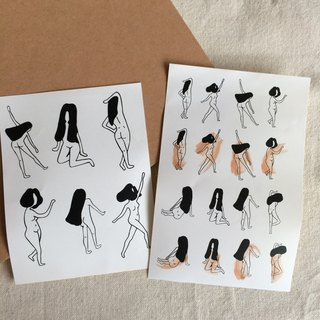 C'est trop Mignon \\ * own hand-painted stickers stickers streaking girls' own shears (2 in)