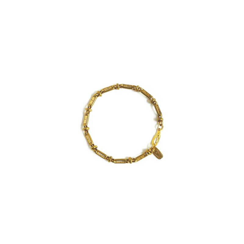 Ficelle | Handmade Brass Natural Stone Bracelet | [Model] Copper Word - Bracelet