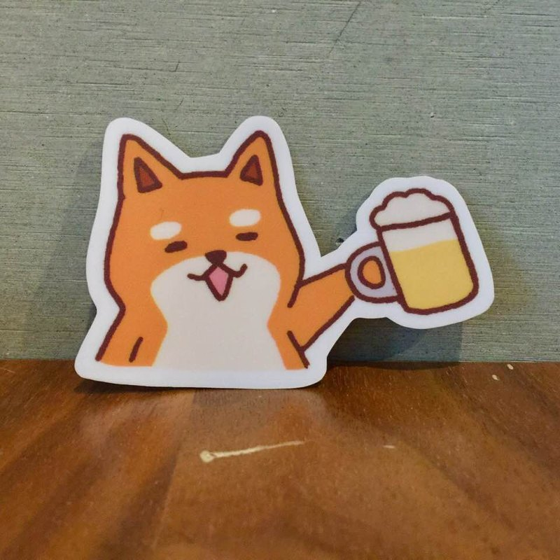 Shiba Inu daily dry cup small waterproof sticker SS0067