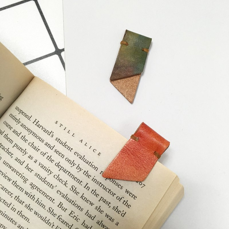 Hand-dyed Leather Bookmark