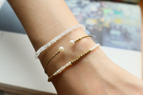 <☞ HAND IN HAND ☜> Natural Pearl - Addition bracelet (0655)