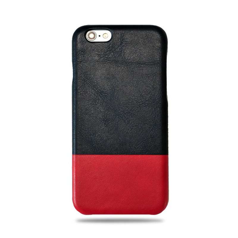 Customized indigo with Yin red leather IPHONE 6 case