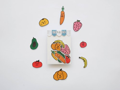 Fruit and vegetable health stickers / big roll