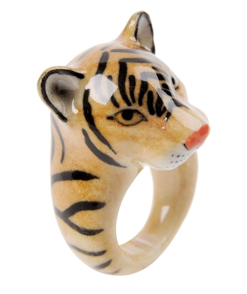Tiger Porcelain Rings (Size Large)