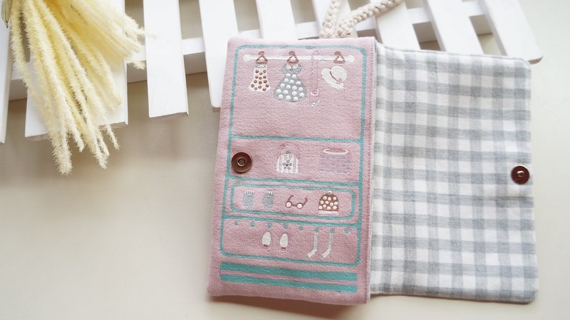 Hand-pantined girl's wardrobe Mobile phone hand bag