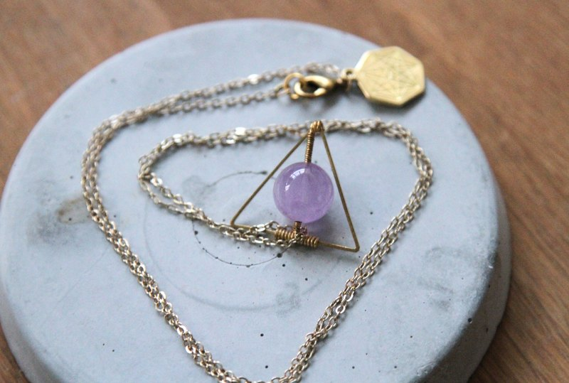 MYTH: trigonometry lavender amethyst necklace