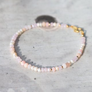 Opal Pearl Natural Stone Brass Bracelet 0982 - No Summer Year