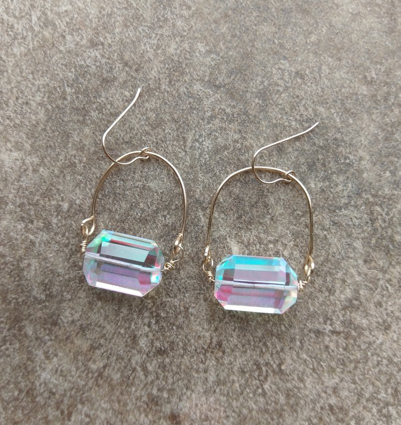 Mystic Rainbow Quartz Dangle Earrings