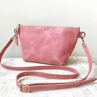 JAPAN Leather Nume Leather Handbag Shoulder Pouch barco L Peach Blossom