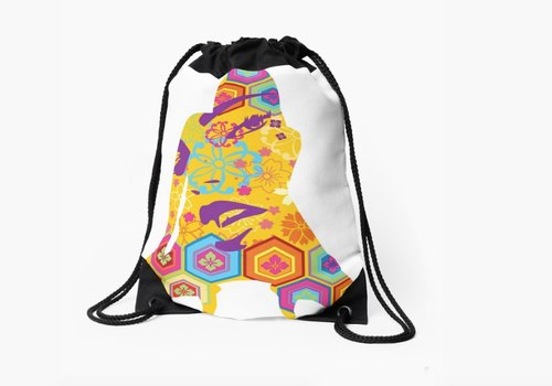 printed bag / drawstring bag