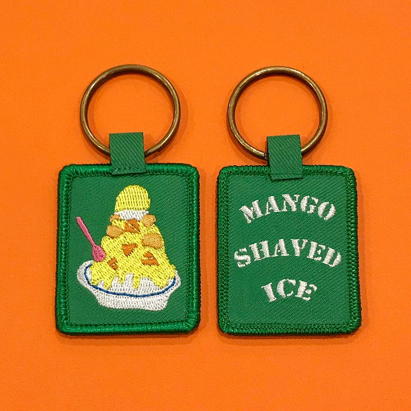 Embroidered key ring Taiwan ft. Mango ice/all 11 styles/