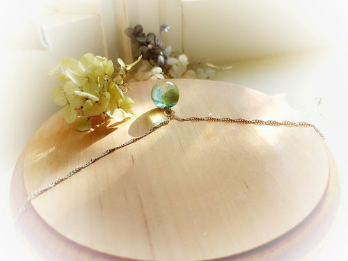 Tanabata gift summer limited matcha latte - crystal ball clavicle necklace silver chain free packaging limited edition