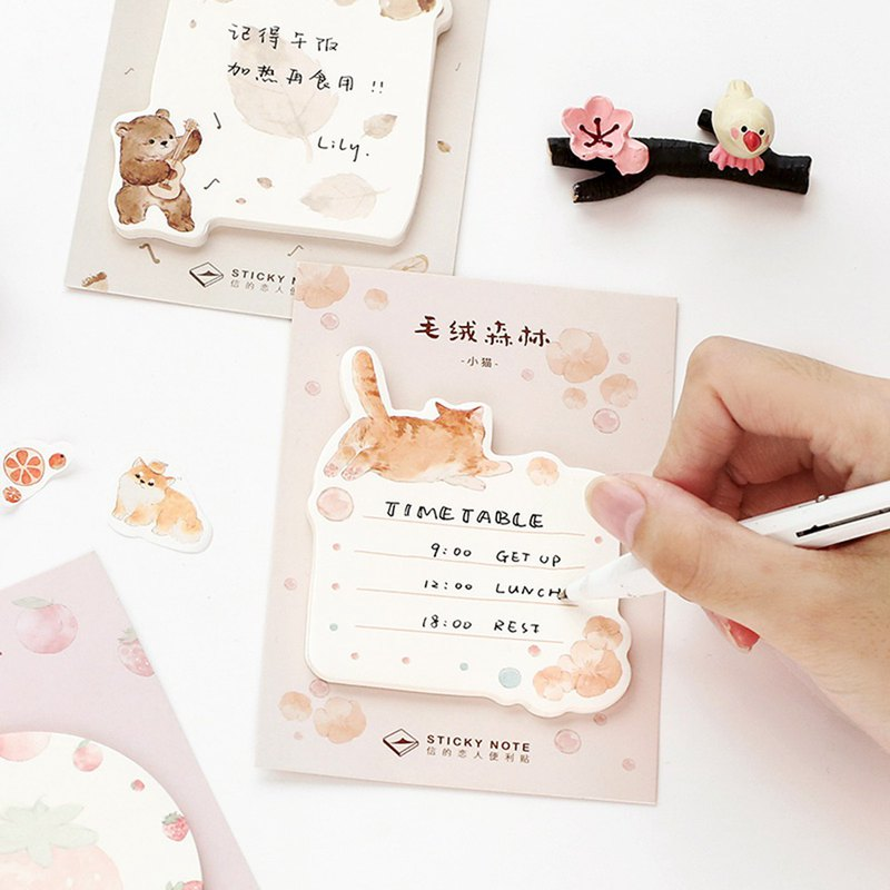 Letter of Lovers Post-it <Plush Forest> Record Scratchpad Pocket Decoration Creative Stationery
