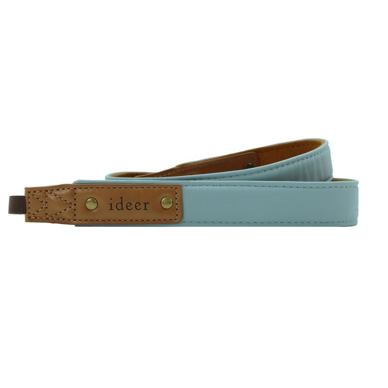 Alex can customize the lake green Tiffany blue leather belt camera strap (young)