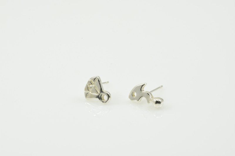 Silver earrings belonging to PonChi