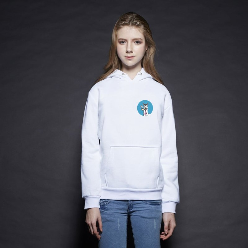 British Fashion Brand [Baker Street] Little Stamp:Smokin' Printed Hoodie