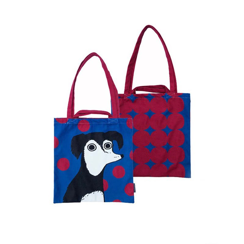 [draft / ciaogao] original design Nordic style animal blue dog gift green shopping bag