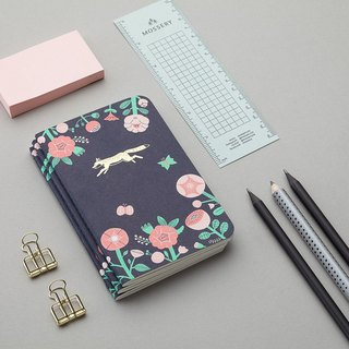 Flower and Fox Emblem Pocket Notebook