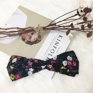 Secret Garden / Japanese cloth black / [special] wide version of loose hand made hair band